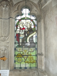 Stained Glass Window of St Aelhaiarn