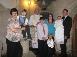 Baptism at St Aelhaiarn's