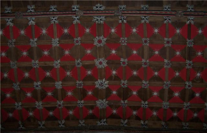 Tudor ceiling over the chancel featuring 140 bosses
