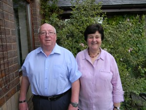 Roger and Barbara Bird, retiring Vicar of Guilsfield and his wife