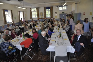 Lunch at the Old School following Roger's Retirement Thanksgiving Service