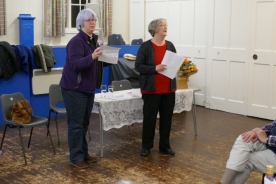 Caroline and Yvette announce the winner of the Seasonal Music Quiz